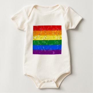 Rainbow Pride Mosaic Flag Baby Bodysuit
