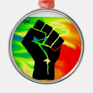 rainbow pride Silver-Colored round decoration