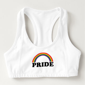 Rainbow Pride sports bra