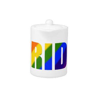 rainbow pride teapot