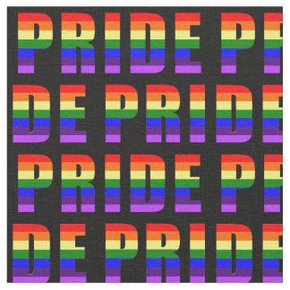Rainbow Pride Text Art on Custom Black Color Fabric