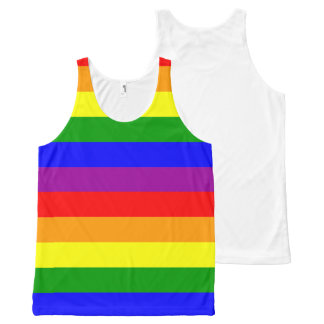 Rainbow Pride - unisex tanktop (one-sided print) All-Over Print Singlet
