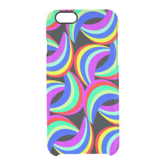 Rainbow Print Clear iPhone 6/6S Case