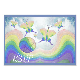 Rainbow Prism Butterfly Pentacle Handfasting Card