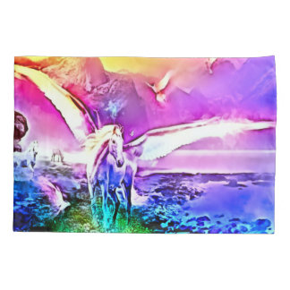Rainbow Prism Pegasus Fantasy Airbrush Art Pillowcase