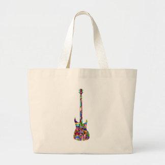 Rainbow Prismatic Guitar Large Tote Bag