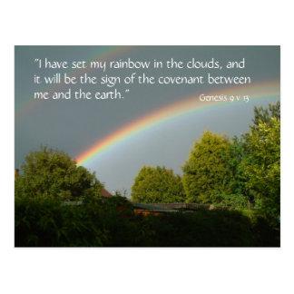 Rainbow Promise, Genesis 9 v 13   Postcard