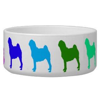 Rainbow Pug Pet Bowl