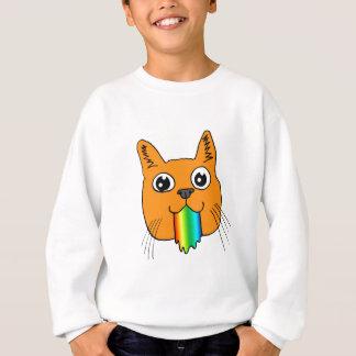 Rainbow Puke Cat Cartoon Hand-drawn Sweatshirt