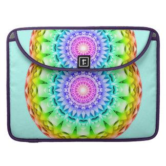 Rainbow Pulse Mandala Sleeves For MacBook Pro