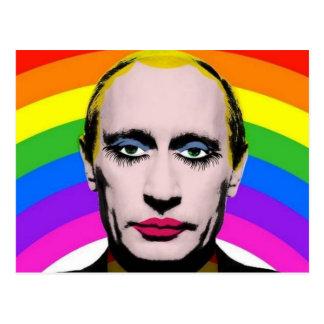 Rainbow Putin Postcard