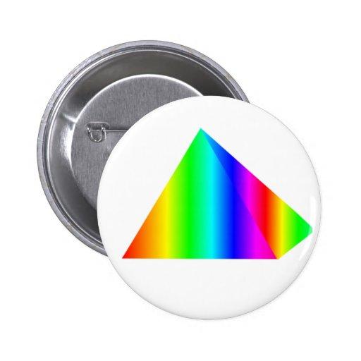 Rainbow Pyramid Pinback Button
