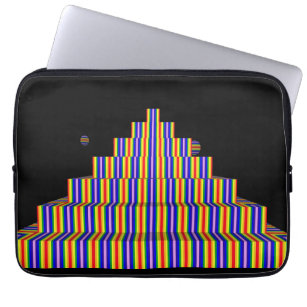 RAINBOW PYRAMID Neoprene Laptop Sleeve 13 inch