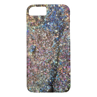 Rainbow Pyrite Crystal Phone Case, Druzy Case