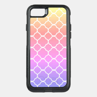Rainbow Quatrefoil OtterBox Commuter iPhone 8/7 Case