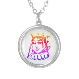 Rainbow Queen Silver Plated Necklace