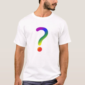 Rainbow question mark T-Shirt