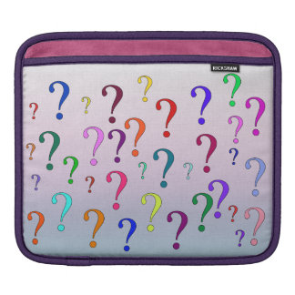 Rainbow Question Marks Sleeve For iPads