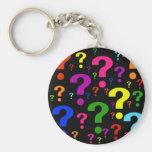 Rainbow Question Marks Key Chains