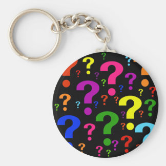Rainbow Question Marks Keychains
