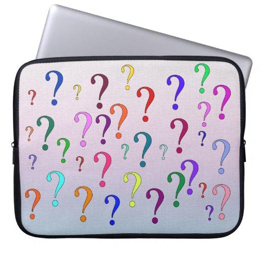 Rainbow Question Marks Laptop Sleeve