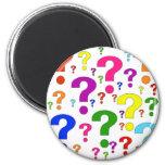 Rainbow Question Marks Refrigerator Magnet