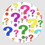 Rainbow Question Marks Stickers