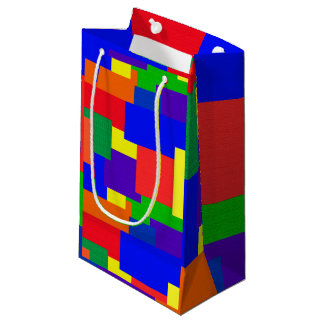 Rainbow Quilt Pattern Abstract Gift Bag