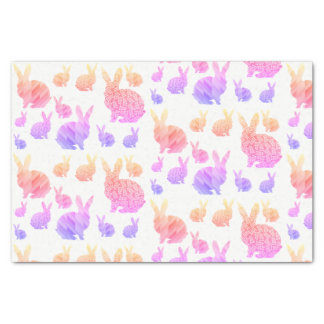 Rainbow Rabbits Tissue Paper