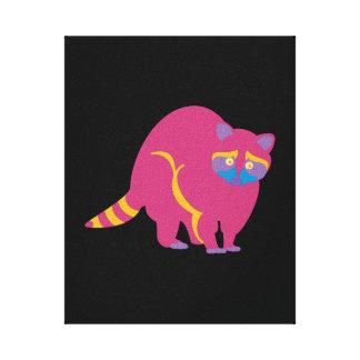 Rainbow Raccoon Canvas Print