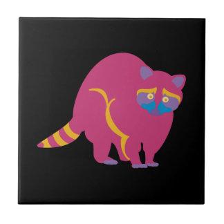 Rainbow Raccoon Ceramic Tile