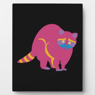 Rainbow Raccoon Plaque
