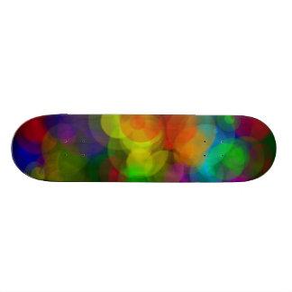 Rainbow rain skateboard design