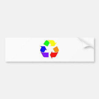 Rainbow Recycle Sign Bumper Sticker