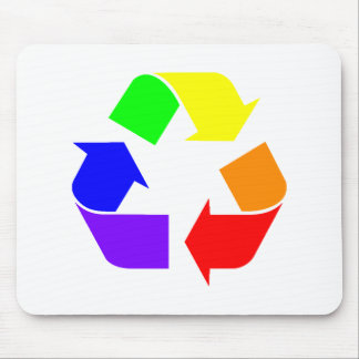 Rainbow Recycle Sign Mousepad