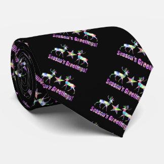 Rainbow Reindeer Cute Christmas Tie