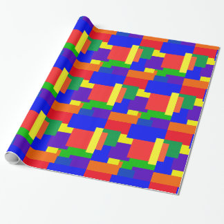 Rainbow Resist Patchwork Pattern Wrapping Paper