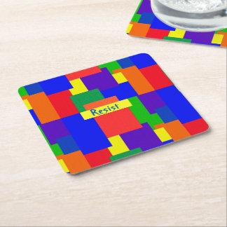 Rainbow Resist Patchwork Quilt Design Coasters