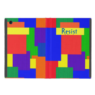 Rainbow Resist Patchwork Quilt iPad Mini Case
