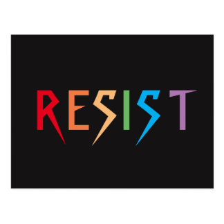 Rainbow Resist Postcard