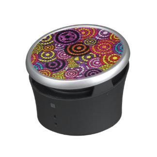 Rainbow Retro Bling Abstract Pattern Speaker