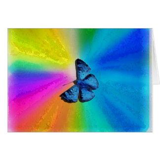 rainbow retro card
