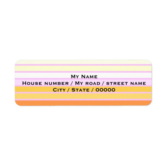 Rainbow - Return Address Labels