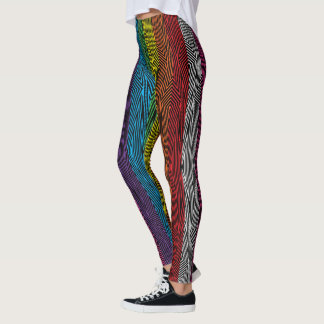 Rainbow Rex Retro Leggings: Rainbow Leggings