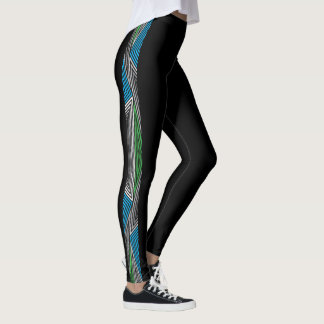 Rainbow Rex Retro Leggings: Slim Leggings