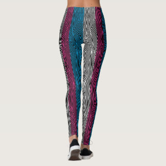 Rainbow Rex Retro Leggings: Trans Flag Leggings