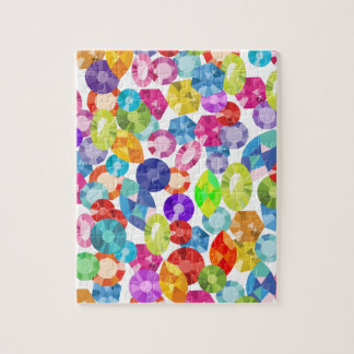 rainbow rhinestones jigsaw puzzle