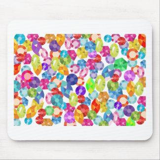 rainbow rhinestones mouse pad
