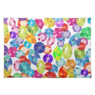 rainbow rhinestones placemat