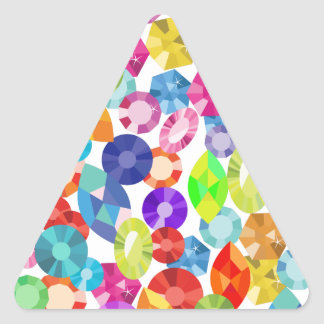 rainbow rhinestones triangle sticker